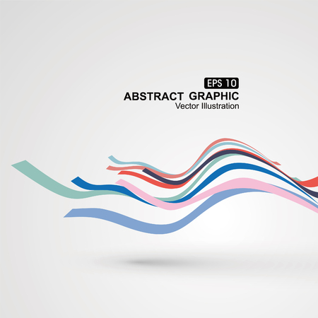 Illustration pour Colourful curve composition have a sense of perspective graphic. - image libre de droit