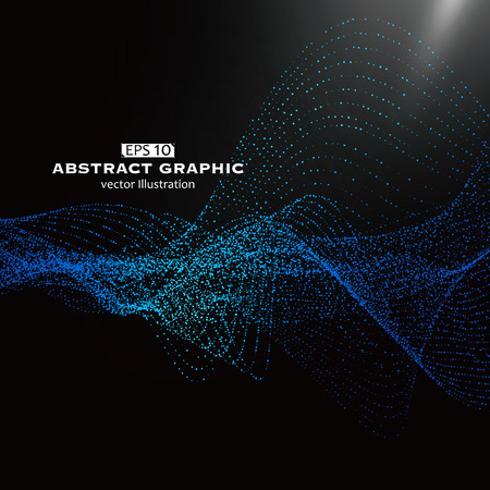 Illustration pour Dot pattern composed of mesh,Technological sense of abstract graphics - image libre de droit