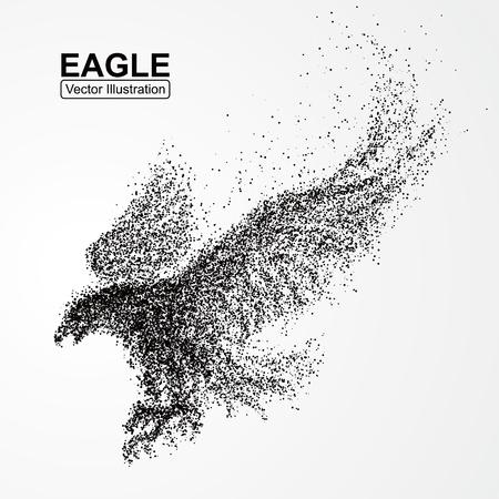 Ilustración de Particle Eagle, vector illustration composition - Imagen libre de derechos