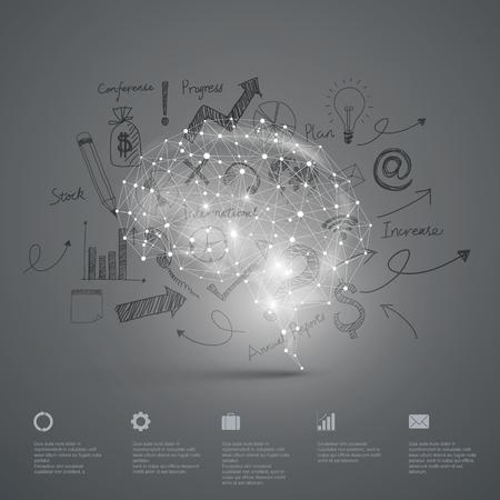 Illustration pour Vector Graphics,Brain, Abstract background. - image libre de droit