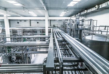Photo for Milk factory filled with pipes. - Royalty Free Image