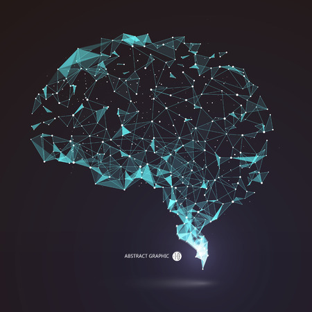 Illustration pour Wires from the point of brain graphics, illustration. - image libre de droit