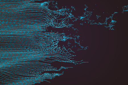 Foto de Wavy abstract graphic design, a sense of science and technology background. - Imagen libre de derechos