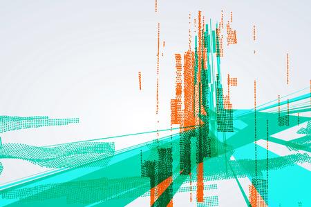 Illustration pour Abstract graphic design, a sense of science and technology background. - image libre de droit