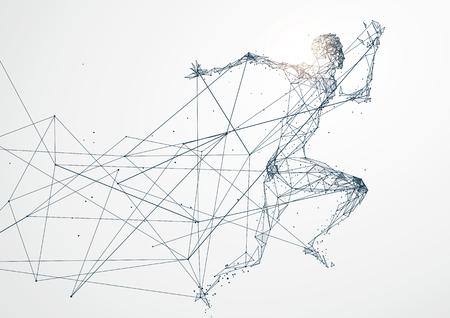 Foto de Running Man, Network connection - Imagen libre de derechos