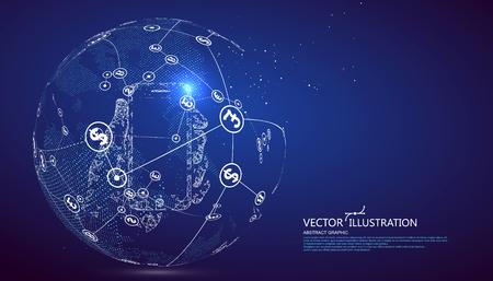 Illustration pour Electronic payment, internet finance illustration. - image libre de droit