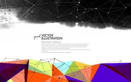 The coexistence of traditional and modern,  abstract conceptual background.