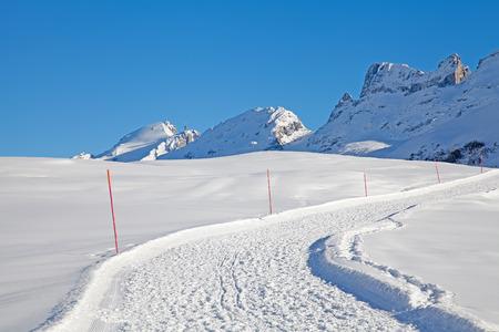 Walking path in the Swiss Alps