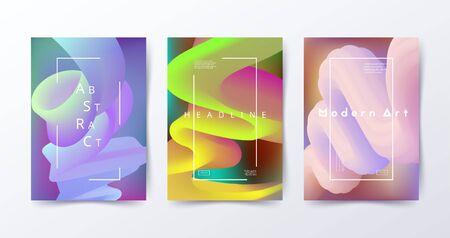 Illustration pour Colorful fluid backgrounds. Abstract liquid shapes. Modern design for flyer - image libre de droit