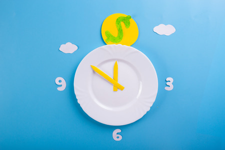 time is money concept. blue background