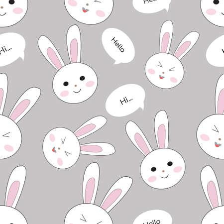 Illustration pour Illustration Vector Graphic of rabbit head Seamless Pattern - image libre de droit