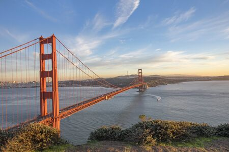 Photo for The Golden Gate Bridge at sunset - Royalty Free Image