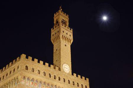 Palazzo vecchio on piazza della signora in Florence, Italy