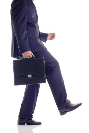 Businessman walking the walk