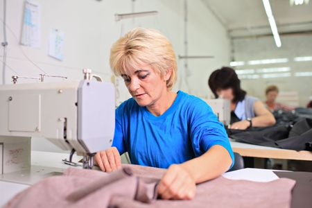 Tailor working at a textile factory