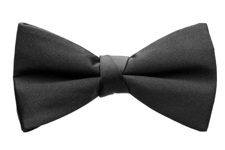 A black bow-tie isolated on white background