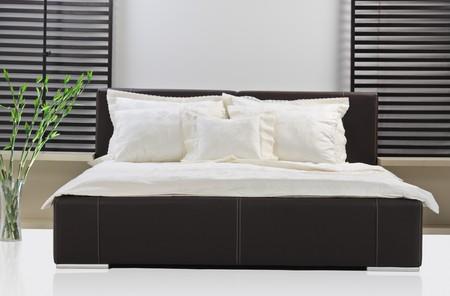 A studio shot of modern bed