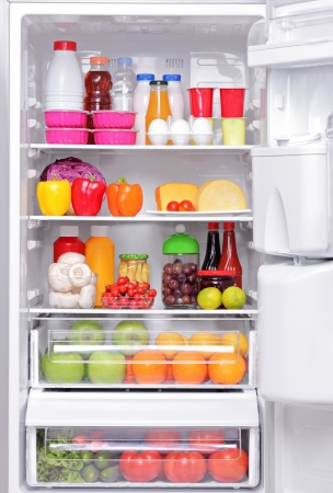 A fridge full of healthy products