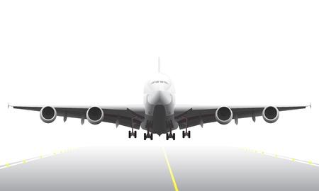Illustration pour Landing aircraft illustration - image libre de droit