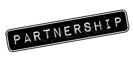 Partnership rubber stamp on white. Print, impress, overprint.