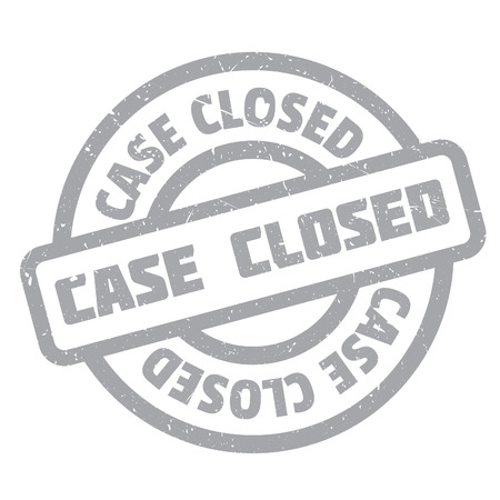 Case Closed rubber stamp. Grunge design with dust scratches. Effects can be easily removed for a clean, crisp look. Color is easily changed.
