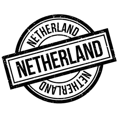 Netherland rubber stamp. Grunge design with dust scratches. Effects can be easily removed for a clean, crisp look. Color is easily changed.