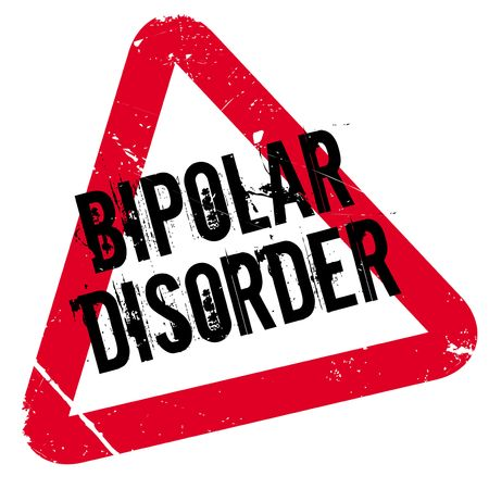Bipolar Disorder rubber stamp. Grunge design with dust scratches. Effects can be easily removed for a clean, crisp look. Color is easily changed.
