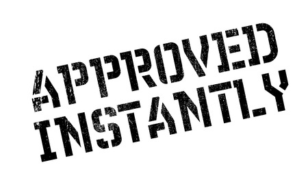 Approved Instantly rubber stamp