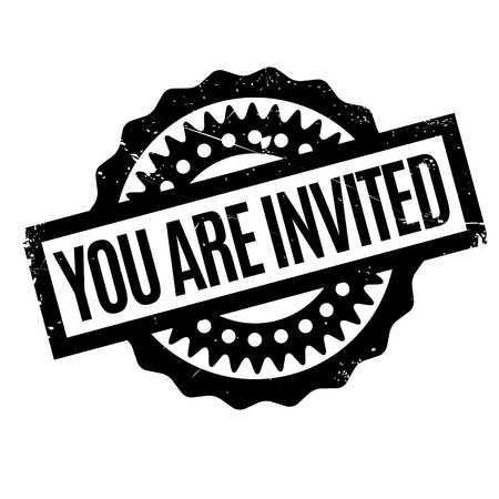 You Are Invited rubber stamp