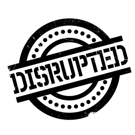 Illustration pour Disrupted rubber stamp. Grunge design with dust scratches. Effects can be easily removed for a clean, crisp look. Color is easily changed. - image libre de droit