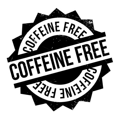 Coffeine Free rubber stamp. Grunge design with dust scratches. Effects can be easily removed for a clean, crisp look. Color is easily changed.