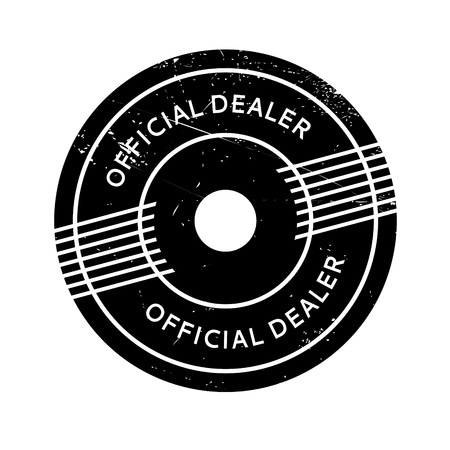 Official Dealer rubber stamp. Grunge design with dust scratches. Effects can be easily removed for a clean, crisp look. Color is easily changed.