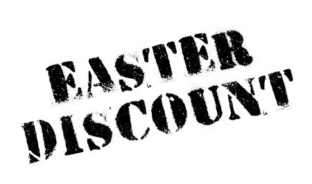 Easter Discount rubber stamp. Grunge design with dust scratches. Effects can be easily removed for a clean, crisp look. Color is easily changed.