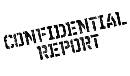 Confidential Report rubber stamp. Grunge design with dust scratches. Effects can be easily removed for a clean, crisp look. Color is easily changed.