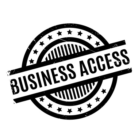 Business Access rubber stamp. Grunge design with dust scratches. Effects can be easily removed for a clean, crisp look. Color is easily changed.