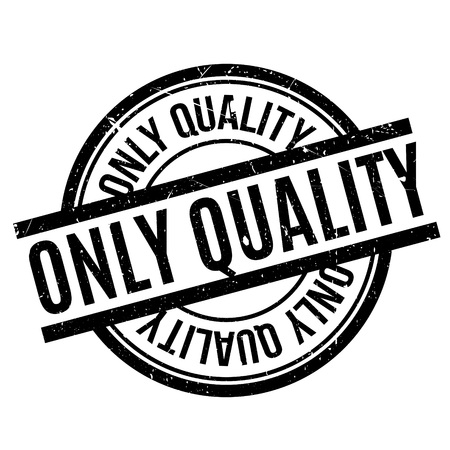 Illustration pour Only Quality rubber stamp. Grunge design with dust scratches. Effects can be easily removed for a clean, crisp look. Color is easily changed. - image libre de droit
