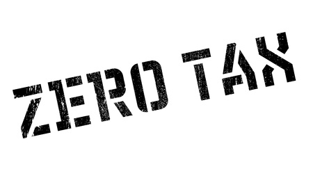 Zero Tax rubber stamp. Grunge design with dust scratches. Effects can be easily removed for a clean, crisp look. Color is easily changed.