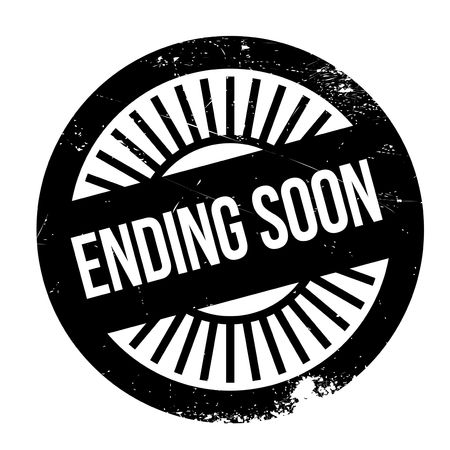 Ending soon stamp. Grunge design with dust scratches. Effects can be easily removed for a clean, crisp look. Color is easily changed.
