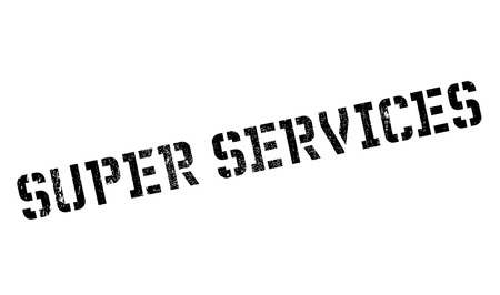 Super Services rubber stamp. Grunge design with dust scratches. Effects can be easily removed for a clean, crisp look. Color is easily changed.