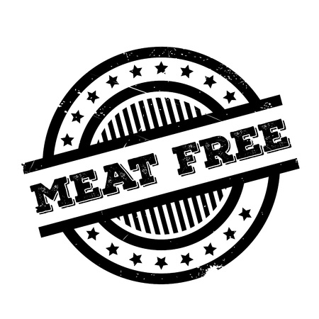 Meat Free rubber stamp. Grunge design with dust scratches. Effects can be easily removed for a clean, crisp look. Color is easily changed.