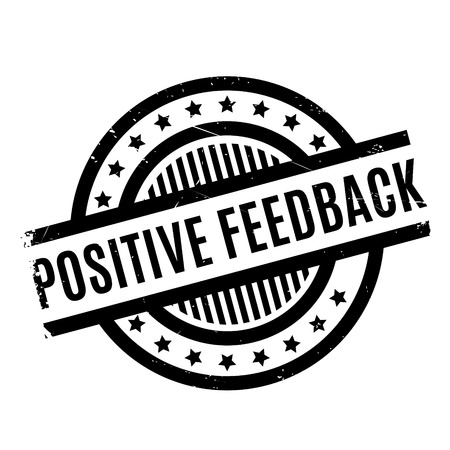 Positive Feedback rubber stamp. Grunge design with dust scratches. Effects can be easily removed for a clean, crisp look. Color is easily changed.