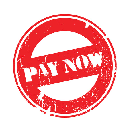 Illustration pour Pay Now rubber stamp. Grunge design with dust scratches. Effects can be easily removed for a clean, crisp look. Color is easily changed. - image libre de droit