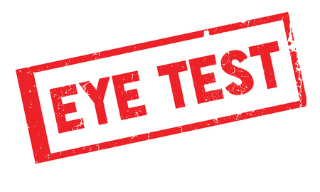 Eye Test rubber stamp