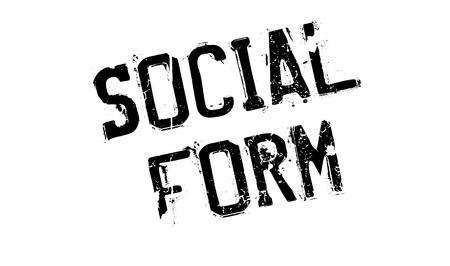 Social Form rubber stamp