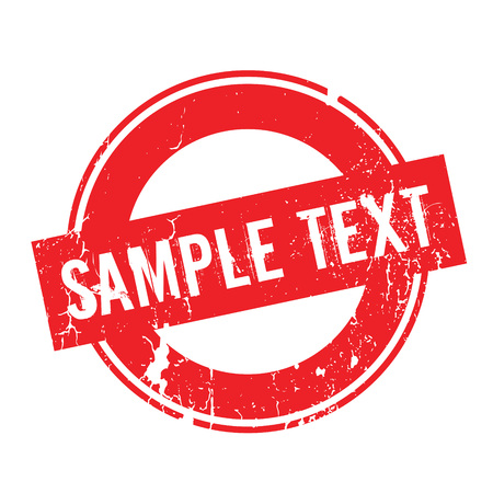 Sample Text rubber stamp