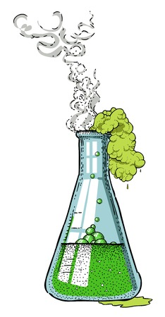 Cartoon image of chemicals