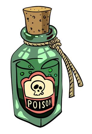 Cartoon image of poison
