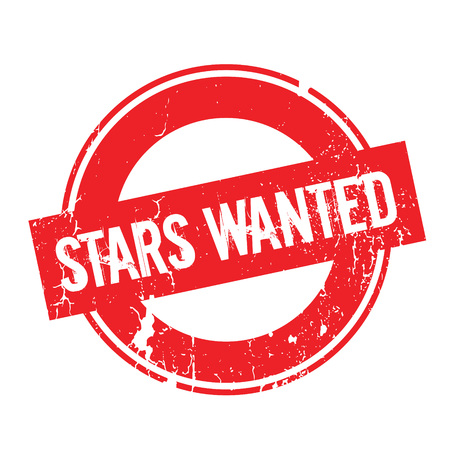 Stars Wanted rubber stamp