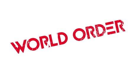 World Order rubber stamp