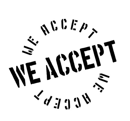 We Accept rubber stamp